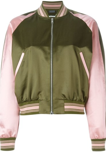 Alexander MacQueen embroided bomber jacket