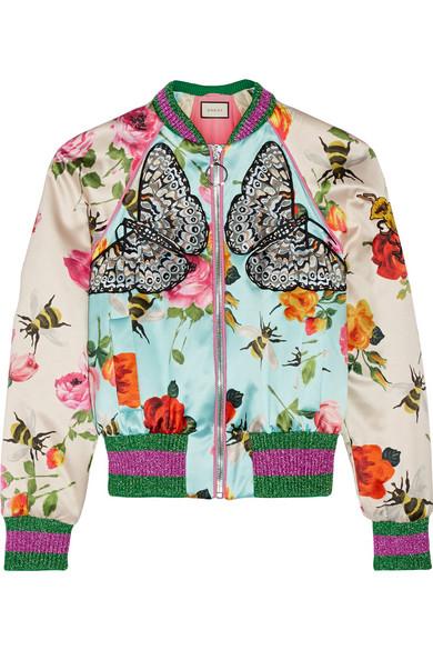 Gucci sil-sating bomber jacket